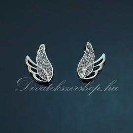 Angyal szárny strassz köves fülbevaló