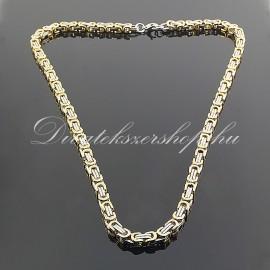 Nemesacél nyaklánc divatékszer arany-ezüst szín