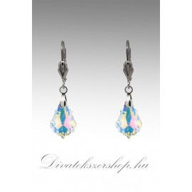 Swarovski kristályos fülbevaló - sarki fény 16