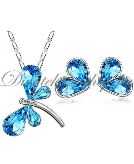 Pillangó medálos szett - óceán kék