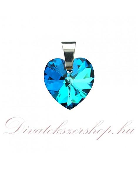 Swarovski Kristály Szív medál 14,4x14mm Bermuda kék