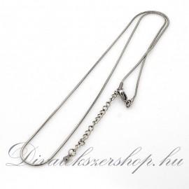 Nemesacél nyaklánc kígyó derekú 50 cm
