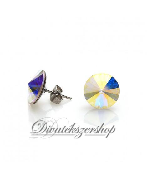 Rivoli beszúrós Swarovski kristály fülbevaló sarki fény szín
