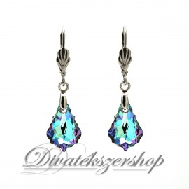 Swarovski kristály Varázslatos Lila barokk fülbevaló