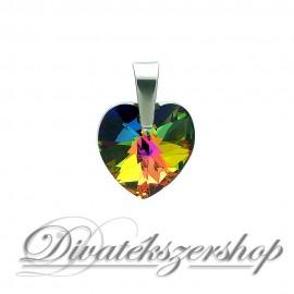 Swarovski kristály szív medál - varázslatos zöld