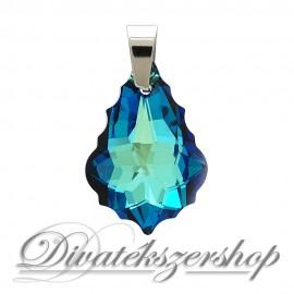 Swarovski kristály barokk medál bermuda kék nagy