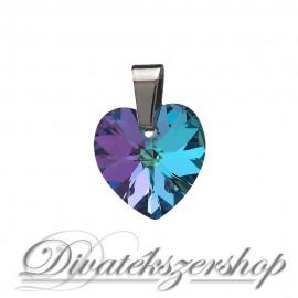 Szív medál Swarovski kristály 14,4x14mm Vitrail Light