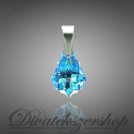 Swarovski kristály barokk medál kék sarki fény szín 16mm