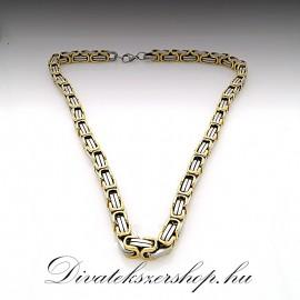 Nemesacél nyaklánc arany-ezüst szín