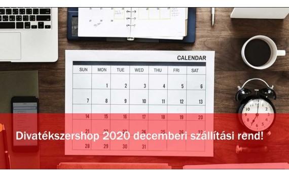 Divatékszershop 2020 decemberi ünnepi szállítási és munkarend